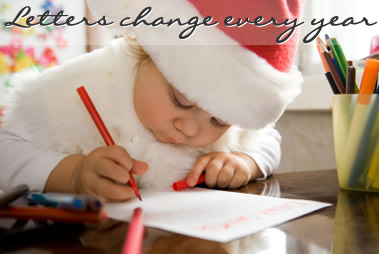 Young child writing a letter to Santa