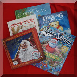 array of children's Christmas books