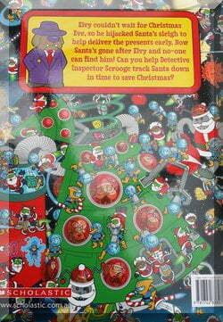 back cover of Where's Santa book