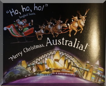 Sample page from 'Santa is Coming to Australia'