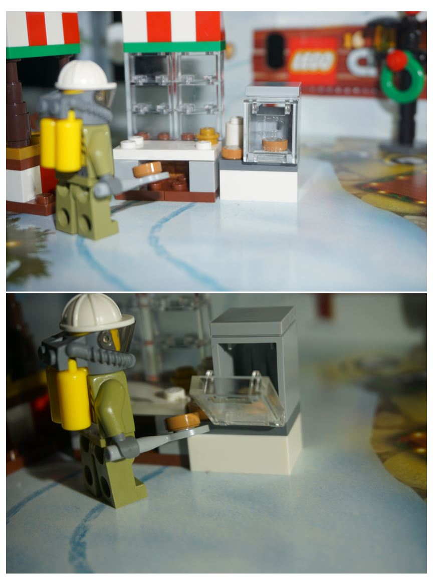 Lego City bakery stall and oven