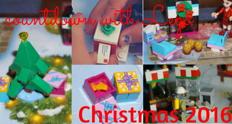 Collage of 2016 Lego Advent Calendars