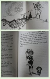 Inner pages of the book A Boy called Christmas