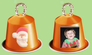 Coffee pods recycled as Christmas bells