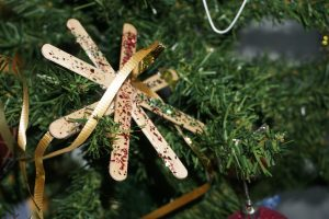 Christmas star made from icy-pole sticks